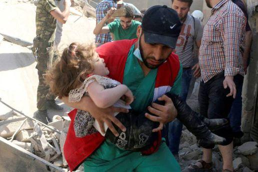 Среди пострадавших от химической атаки много детей