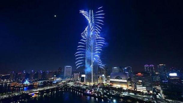 Відкриття Lotte World Tower