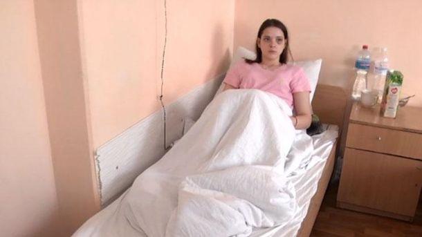 Полина Малоштан, которую жестоко избили в Чернигове