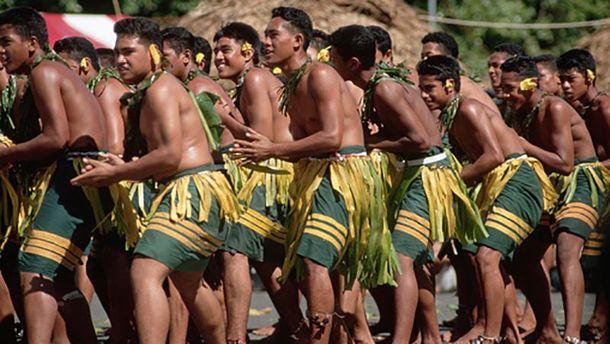 Традиционный танец полинезийцев в Самоа