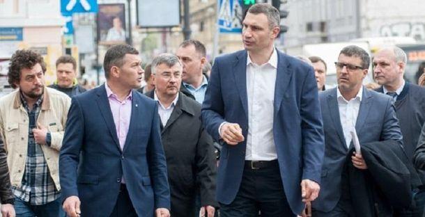 Віталій Кличко під час виїзної наради на Подолі.