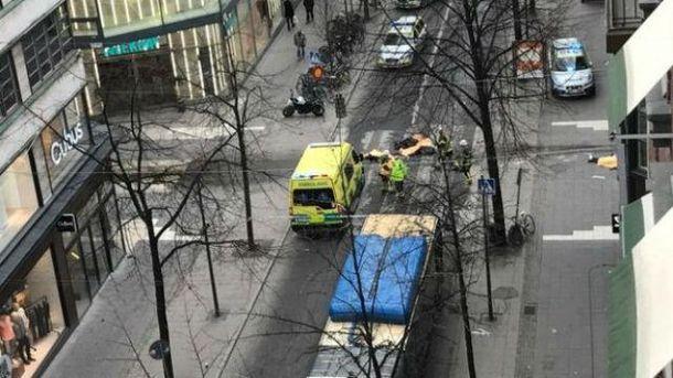 Місце теракту у Стокгольмі