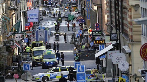 Наслідки теракту у центрі Стокгольма