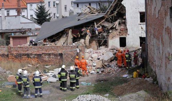Обвал дома в Польше