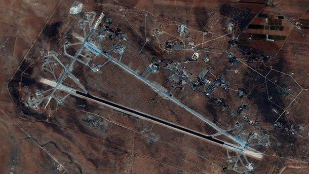 Ракетный удар США по авиабазе