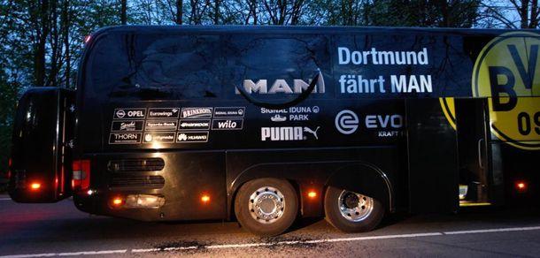 Взрыв возле автобуса