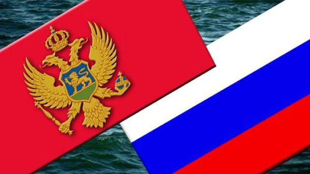Флаги России и Черногории