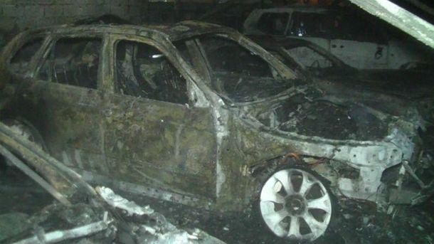 Пожежа на автостоянці у Харкові