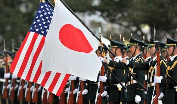 Прапори Японії та США