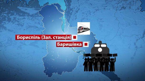 Блокування залізниці на Київщині