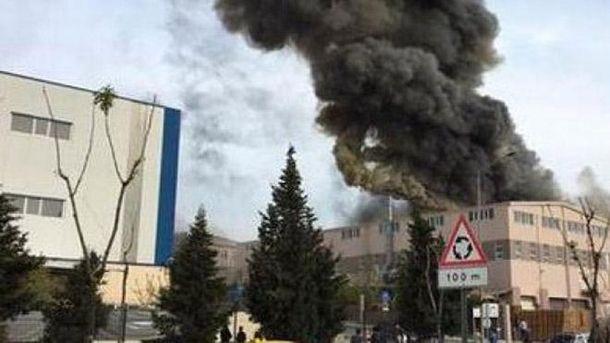 Взрыв на фабрике в Турции