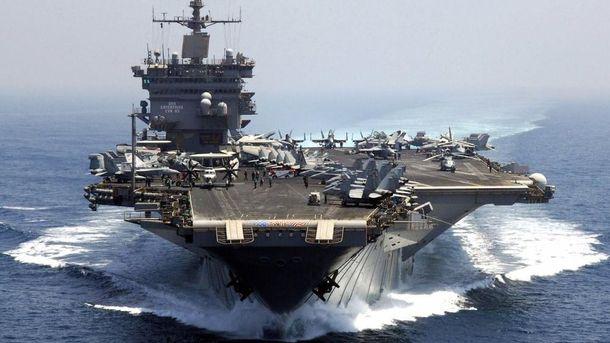 Авианосец США направляется к берегам КНДР
