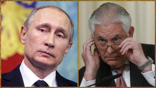 Встреча Путина и Тиллерсона 12 апреля