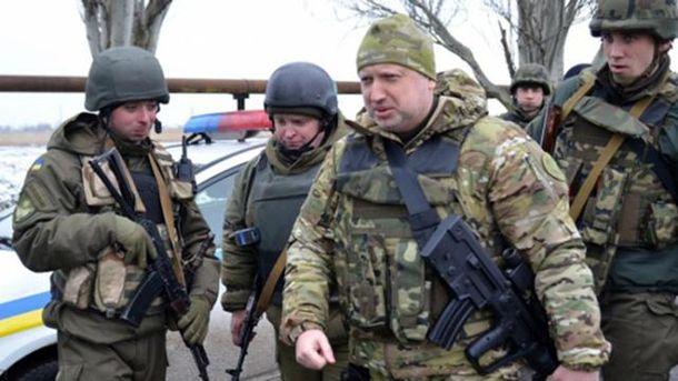 Олександр Турчинов у зоні АТО