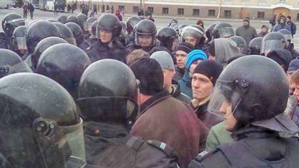 Задержание активистов в России