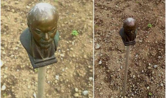 Бюст Ленина теперь отпугивает птиц на Закарпатье