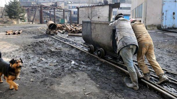 Шахтеры в Донецкой области