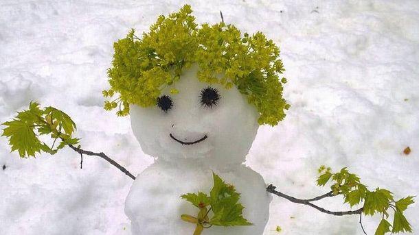 Квітневий сніговик