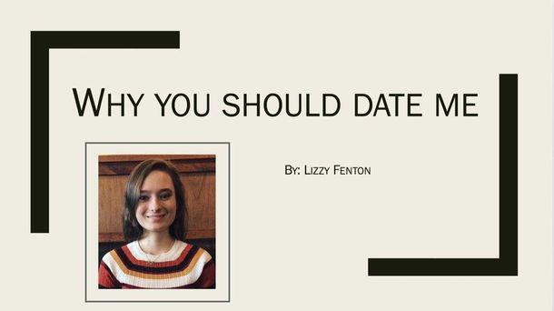 Девушка сделала презентацию-приглашение