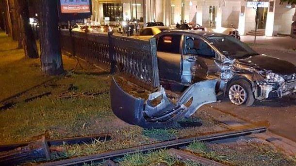 Аварія на бульварі Шевченка у Києві