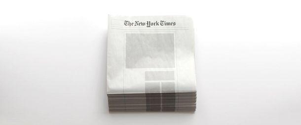 Газеты с пустыми страницами