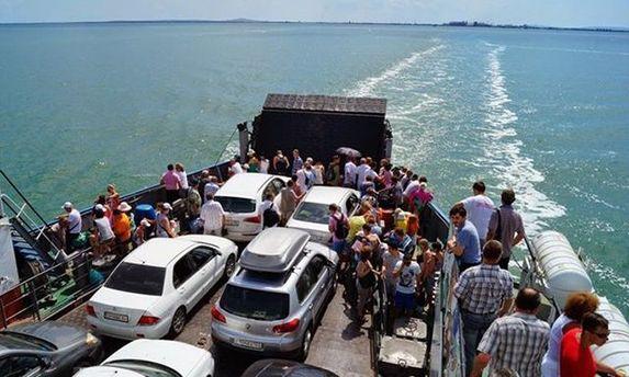Керченська переправа до Криму призупинила роботу