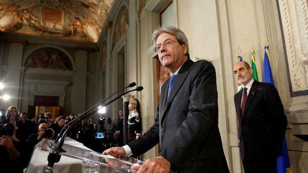 Прем'єр-міністр Італії Паоло Джентілоні