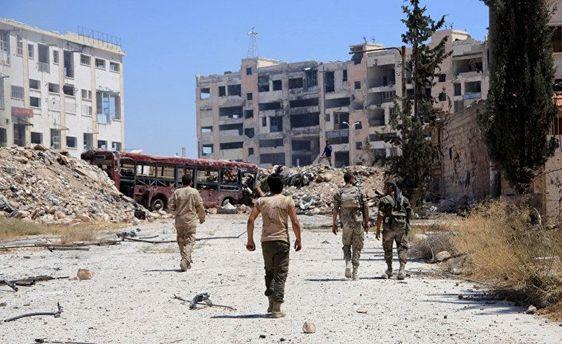 Разбомбленное Алеппо