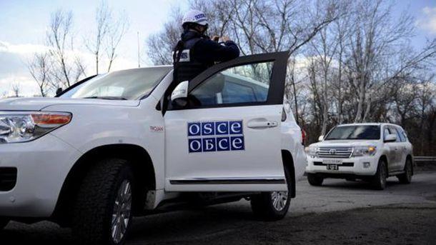 Автомобіль моніторингової місії ОБСЄ