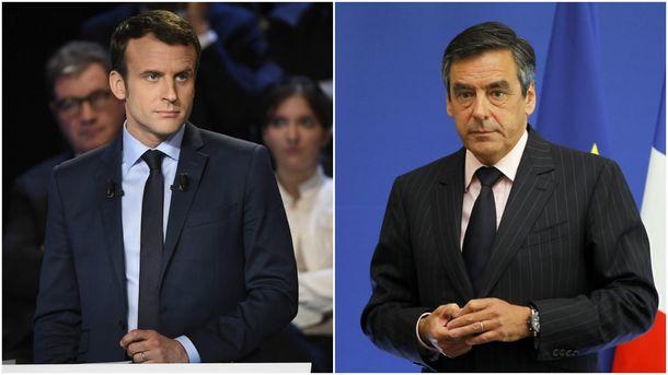 Франсуа Фійон  та Еммануель Макрон
