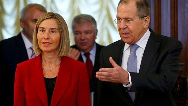 Федерика Могерини встретилась в Москве с Сергеем Лавровым