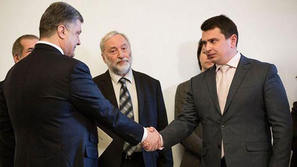 Петр Порошенко и Артем Сытник
