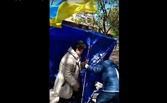 В Мариуполе вспыхнула стычка между агитаторами