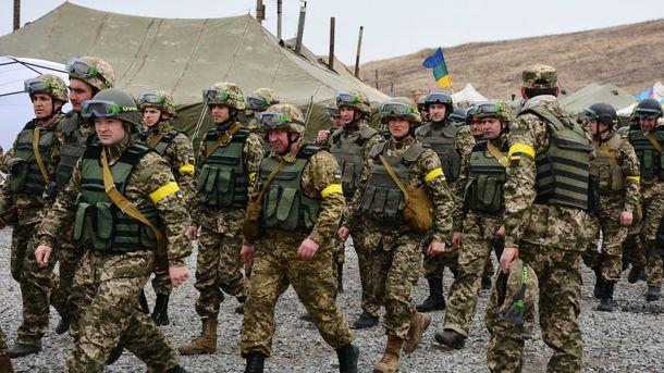 Українські військові навчання за участю резервістів