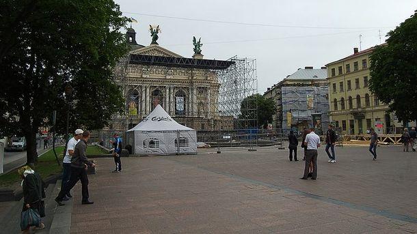 Фан-зону побудують поблизу Оперного театру у Львові