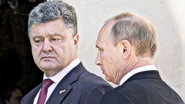 Петро Порошенко та Володимир Путін