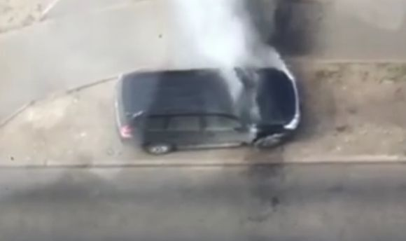 Активистке сожгли авто