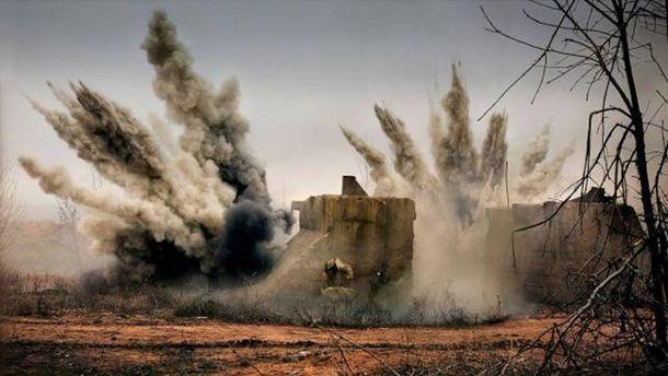 Обстріл позицій сил АТО з мінометів