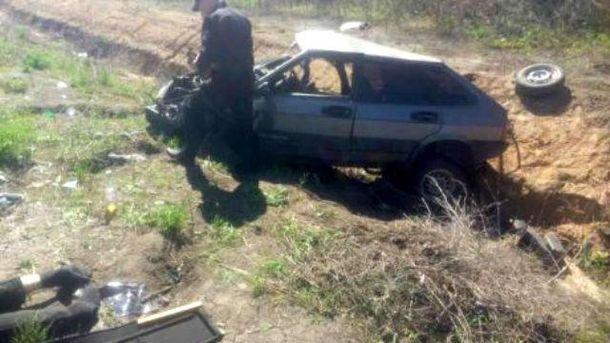 Місце аварії за участі поліції