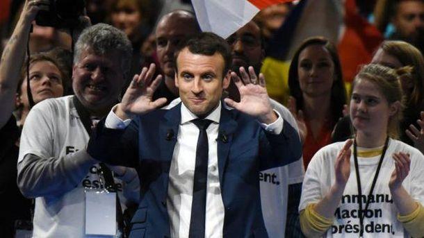 Кандидат в президенты Франции Эмануэль Макрон