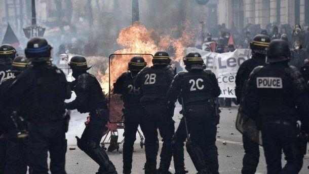 1 мая в Париже было неспокойно