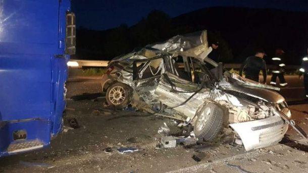 Фото з місця аварії на Закарпатті