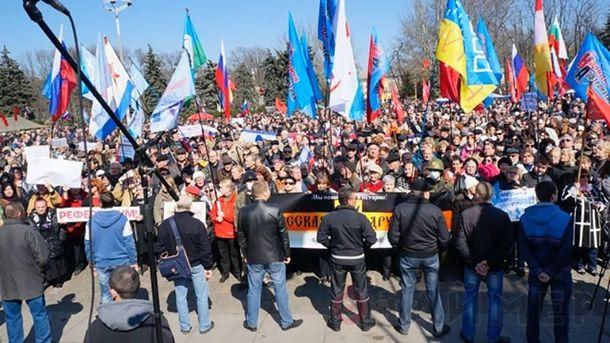 Сепаратисти на Куликовому полі в Одесі