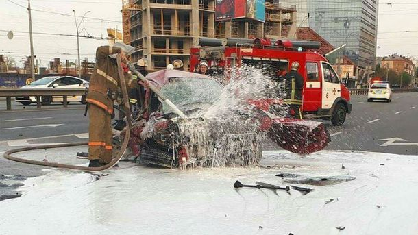 Аварія, в якій постраждав музикант у Києві