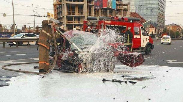 Авария, в которой пострадал музыкант в Киеве