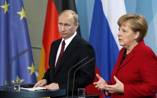 Ангела Меркель и Владимир Путин встретились в Сочи