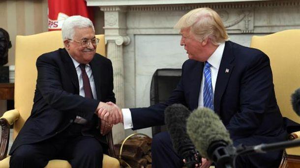 Дональд Трамп встретился с палестинским лидером Махмудом Аббасом