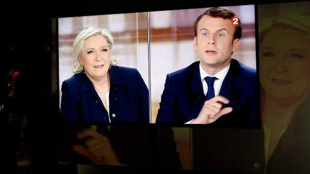 Макрон и Ле Пен сошлись в ожесточенных теледебатах