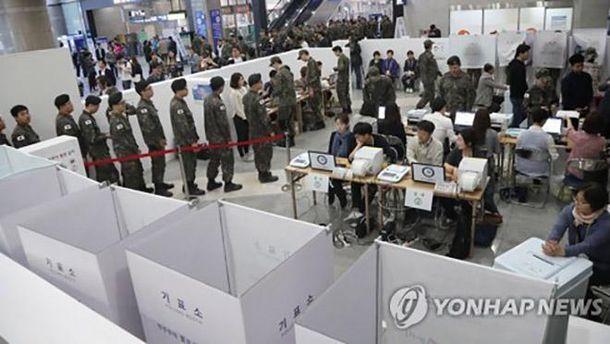 Досрочное голосование в Южной Корее