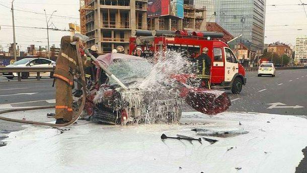 Жуткая авария в Киеве